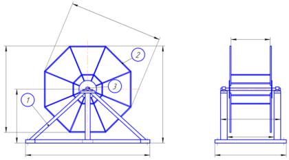Катушки для шлангов ручные и механические